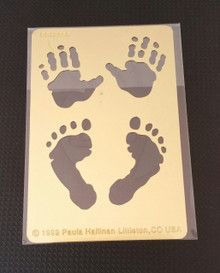 """Tiny Hands & Feet Metal Stencil PRH-259  2""""x3"""""""