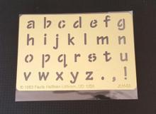 "LC Block Alphabet Metal Stencil JLH-33  3""x 2 """