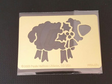 "Christmas Sheep Stencil PRH-374 2""x3"""
