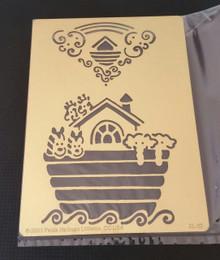 "Noah's Ark Stencil XL-22  4"" x 5"""