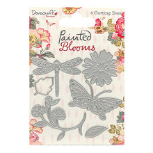 Dovecraft Painted Blooms 6-die Set DCDIE078 Cutting Die Set