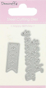 DCDIE088 Dovecraft Mini Die 2/Pkg-Happy Birthday