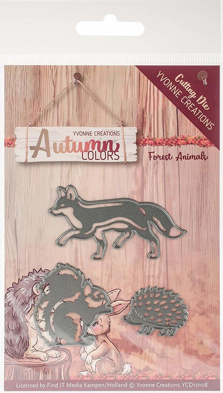 Yvonne Creations Forest Animals Autumn Colors Die - Simply Special Crafts