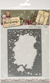 Yvonne Creations Celebration Christmas Die-Christmas Scene Rectangle Frame
