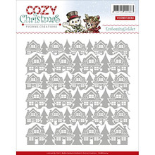 Yvonne Creations Embossing Folder-Cozy Christmas