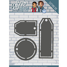 Yvonne Creations Wild Boys Mini Tags Cutting Dies YCD10122