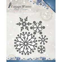 Amy Design Vintage Winter Beautiful Snowflakes Cutting Die Set ADD10126