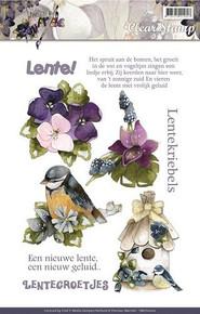 Precious Marieke Springtime Flowers Stamps - 4 Images Stamps PMSC10002