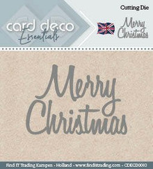 Find It Trading Card Deco Essentials Cutting Dies- Merry Christmas CDECD0003