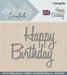 Find It Trading Card Deco Essentials Cutting Dies- Happy Birthday CDECD0004