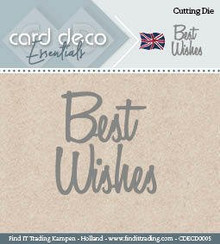 Find It Trading Card Deco Essentials Cutting Dies- Best Wishes CDECD0005