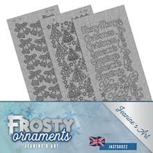 Jeanine's Art- Frosty Ornaments Silver Pearl Sticker Set JASTS002Z