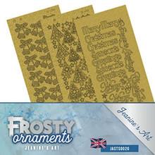 Jeanine's Art- Frosty Ornaments Gold Pearl Sticker Set JASTS002G