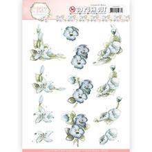 Precious Marieke Flowers in Pastels- True Blue 3-D Pushout Sheet SB10282