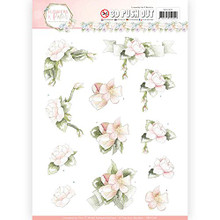 Precious Marieke  Flowers in Pastels- Believe In Pink 3-D Pushout Sheet SB10285