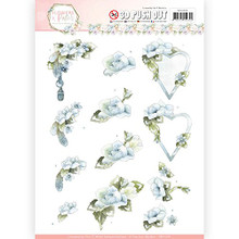 Precious Marieke Flowers in Pastels- Lilac Mist 3-D Pushout Sheet SB10284