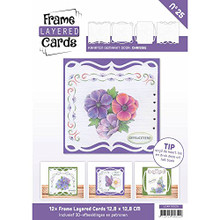 Stitch and Do Frame Layered Cards No25 with Embroidery Patterns & 3D Sheet