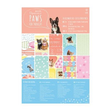Papermania Paws For Thought Pet-Themed Ultimate Die-Cut & Paper Pack 48-Sheets A5 Card Kit