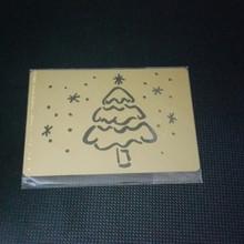 """Tree in Snow Metal Stencil XDAH-145  3.5 x  2.5"""""""