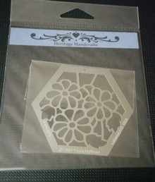 """Flower Stencil PRH-279 2.5""""x2.5"""""""