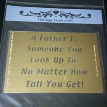 Father Saying Metal Stencil XDAH-183  3.5 x  2.5""