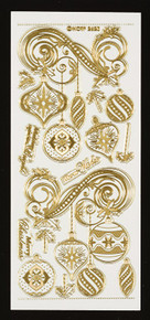 HOTP Gold Engraved Dazzles Chirstmas Ornaments 2820