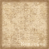 HOTP Memories 8x8 Papers 25-sheet Pack 30004