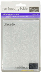 Couture Creations A2 Embossing Folder, Dandelion