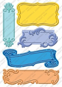Provo Craft Cuttlebug Plus Embossing Folders, Fanciful Labels