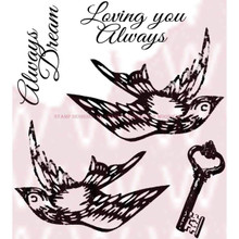 Woodware Clear Stamps 3.5'X3.5'-Love Elements