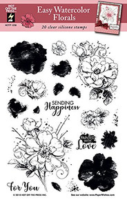 HOTP Easy Water Color Florals Clear Stamps HOTP1238