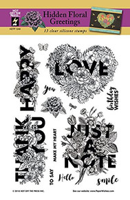 HOTP Hidden Floral Greetings Clear Stamps HOTP1240