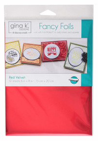 Gina K. Designs Fancy Foils 6'x8' Sheets 12 Sheets per Pack (Red Velvet)