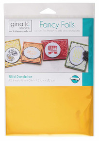 Gina K. Designs Fancy Foils 6'x8' Sheets 12 Sheets per Pack (Wild Dandelion)