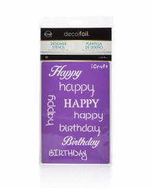 Therm O Web 5502 Deco Foil Happy Stencil