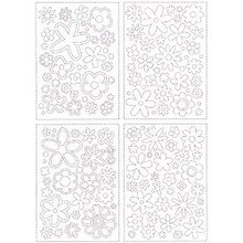 Ready-to-Glitter Flowers 27961 Making Memories Double Sided Adhesive for Glitter Flock Microbeads Foil