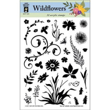 Special Purchase Unpackaged Hot Off The Press Acrylic Stamps: Wild Flowers Unpackaged