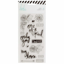 Heidi Swapp Magnolia Lane Stamps 14Piece Clear Stamp Only You American Crafts 313671