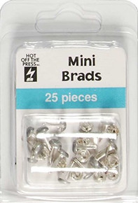 Hot Off The Press - Pewter Mini Round Brads