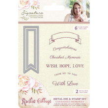 Crafters Companion Rustic Cottage Stamp & Die Set S-RC-MDS-CHER