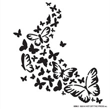 Hot Off the Press Flutterby Butterflies 6x6 Stencil