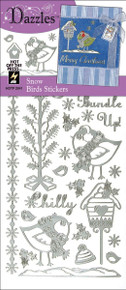 Hot Off The Press Dazzles Stickers: Snow Bird Silver