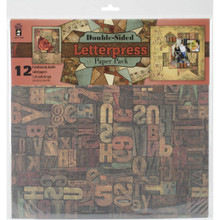 Hot Off The Press - Letterpress Double-Sided Scrapbooking Papers