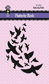 Hot Off The Press - Flutterby Birds Embossing Folder