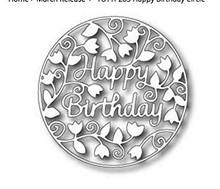 Tutti Designs Happy Birthday Circle Cutting Die TUTT283