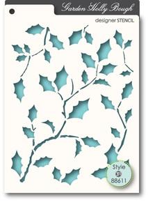 Memory Box Garden Holly Bough Designer Stencil 88611