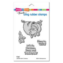 Stampendous Die and Stamp Set Bundle- Sloth Christmas