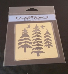 """Trees and Birds Metal Stencil DAH-147  Approx 2.5x2.5"""""""