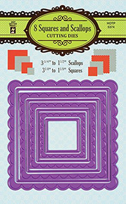 HOTP Paper Artist 8 Squares and Scallops Dies Cutting Die Set 5374