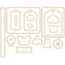 HTP5361 Paper Artist Cutting Die-Celebration Cardmakers Tool Kit
